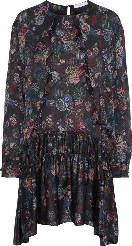 IRO Ciamo ruffle-trimmed floral-print silk crepe de chine mini dress