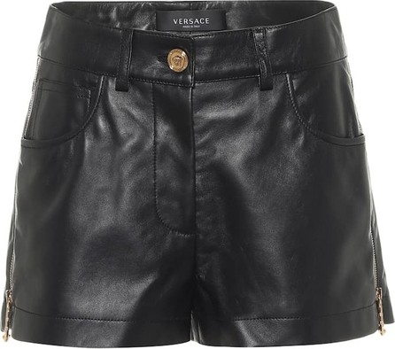 Versace Leather shorts