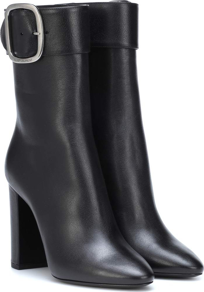 Saint Laurent - Joplin 105 leather ankle boots