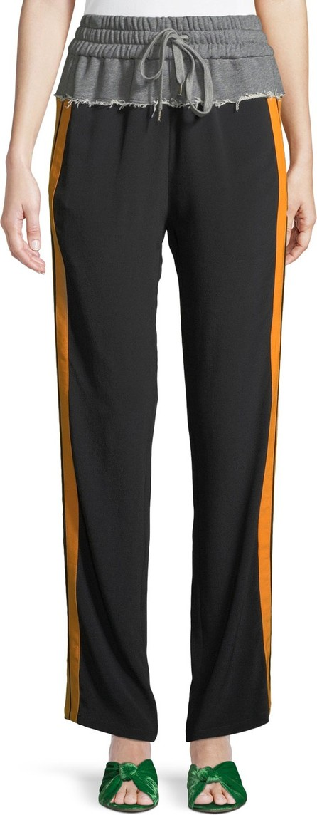 Nº21 Side Striped Tie-Waist Sweatpants