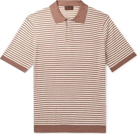 Altea Striped Linen and Cotton-Blend Polo Shirt