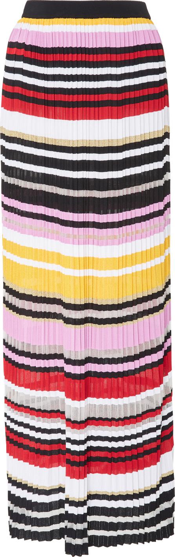 Carolina Herrera Pleated Knit Maxi Skirt