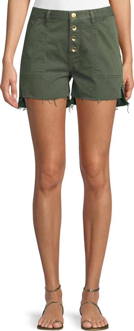 Acynetic Harmony Button-Front Twill Cutoff Shorts