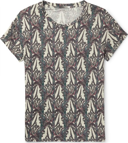 Isabel Marant Karnaby Paisley-Print Linen-Jersey T-Shirt