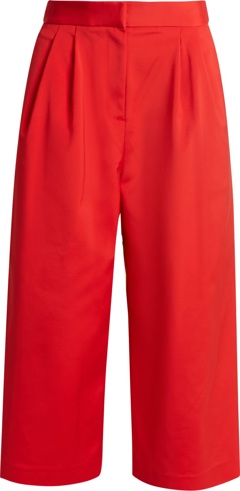 Tibi - Wide-leg faille cropped trousers