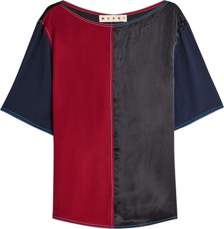 Marni Color Block Top with Silk