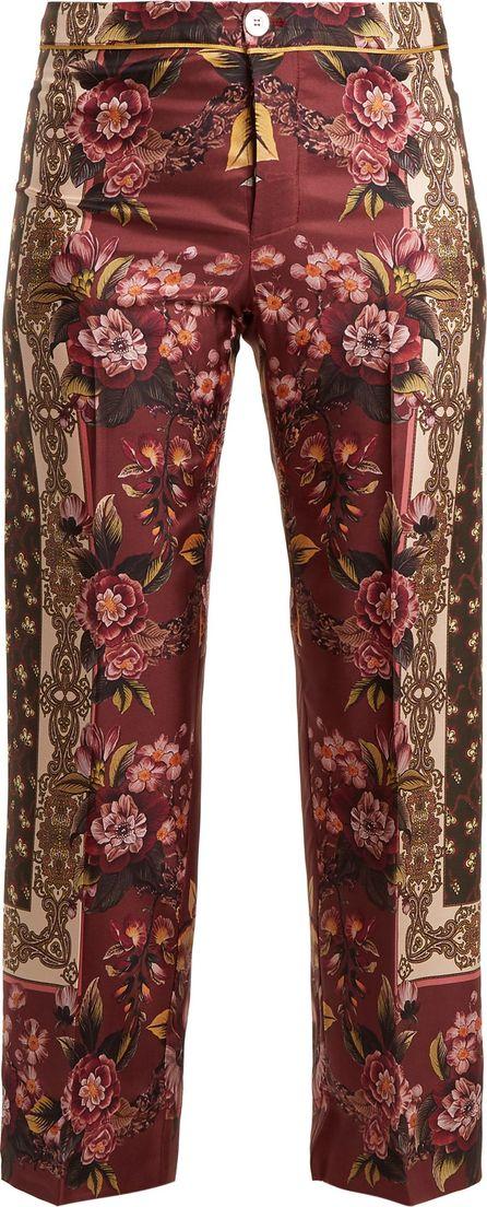 F.R.S For Restless Sleepers Russian Foulard-print silk-twill pyjama bottoms