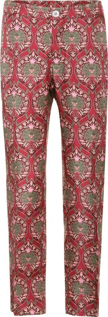 For Restless Sleepers Tartaro printed silk trousers