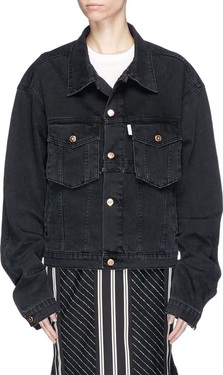 Aalto Frayed trim oversized denim jacket