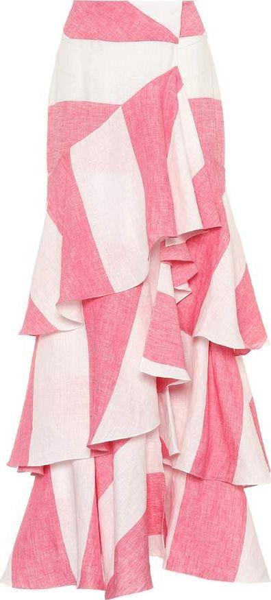 Johanna Ortiz Striped linen skirt