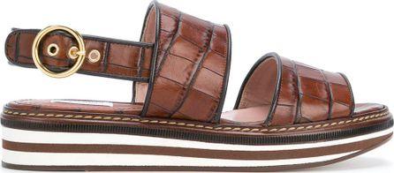 Max Mara Crocodile-print sandals