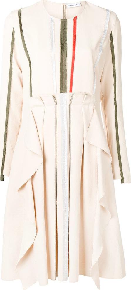 Carven Pleated longsleeved dress