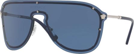 Versace Greek Key Shield Sunglasses
