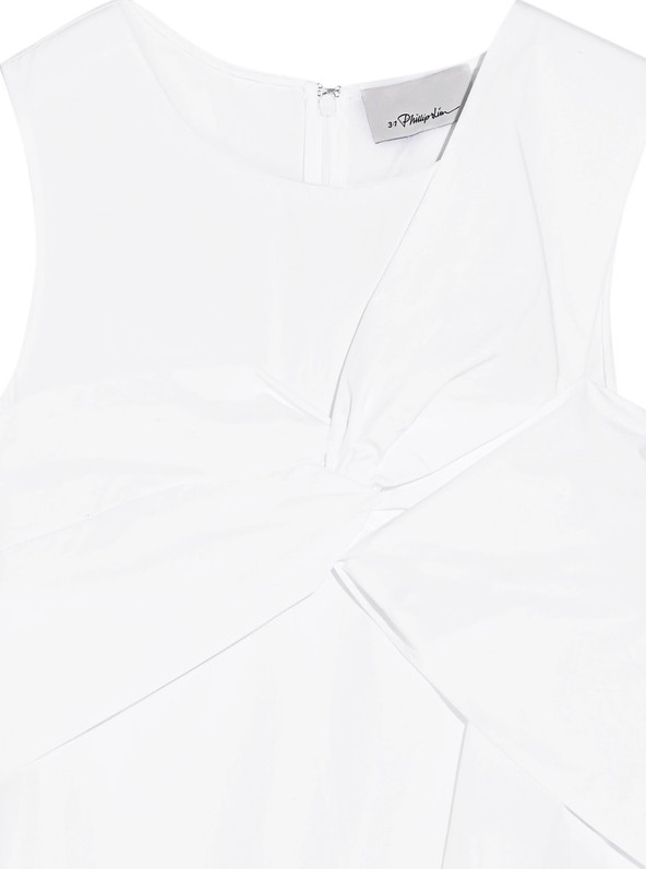 3.1 Phillip Lim - Knotted cotton-poplin top