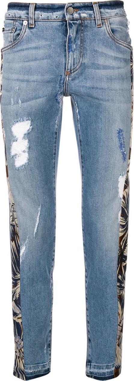 Dolce & Gabbana Floral panel jeans