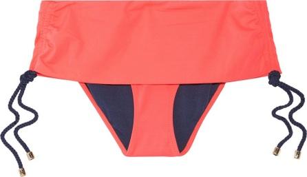 Heidi Klum Intimates Mid-rise ruched bikini briefs