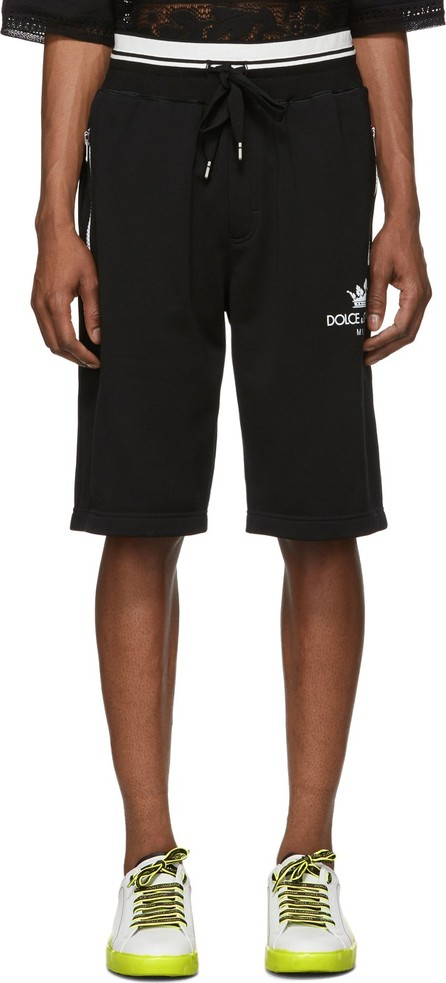 Dolce & Gabbana Black Milano Basketball Shorts