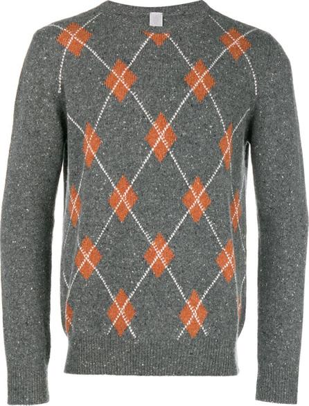 Eleventy Cashmere argyle pattern sweater
