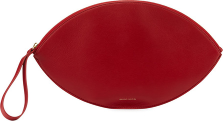 Mansur Gavriel Leather Oval Clutch Bag