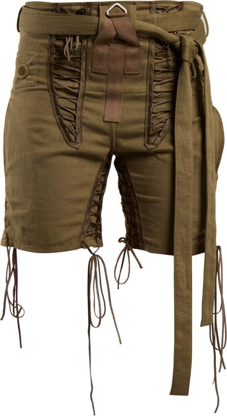 Saint Laurent Tie-waist lace-embellished shorts