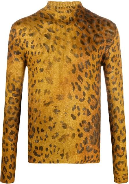 Versace Gold-tone leopard print jumper