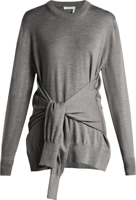 Chloe Tie-front wool sweater
