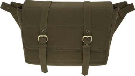 Dries Van Noten Khaki Canvas Messenger Bag