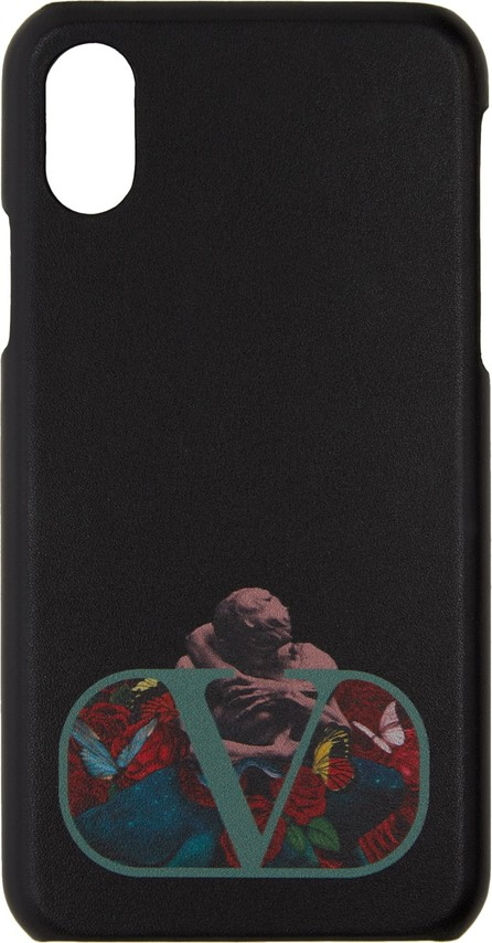 Valentino Black Valentino Garavani Undercover Edition Logo iPhone X Case