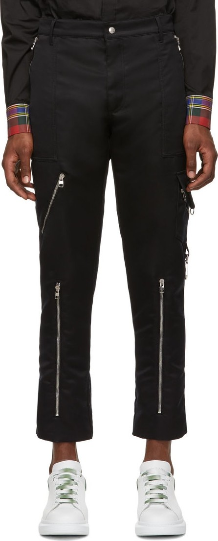 Alexander McQueen Black Punk Trousers