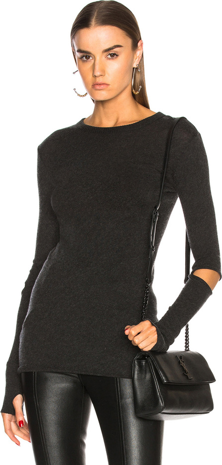 ENZA COSTA Cashmere Elbow Slash Top