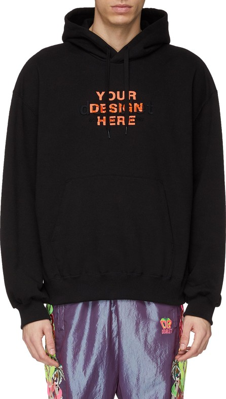 Doublet Logo slogan embroidered hoodie