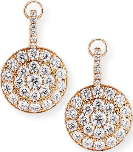 Crivelli Pavé Diamond Disc Drop Earrings in 18K Rose Gold