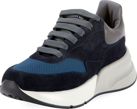 40e74232251f Alexander McQueen Men s Larry Leather Lace-Up Platform Sneakers with ...