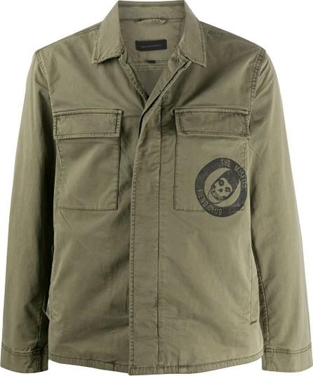 John Varvatos Misfits print military jacket