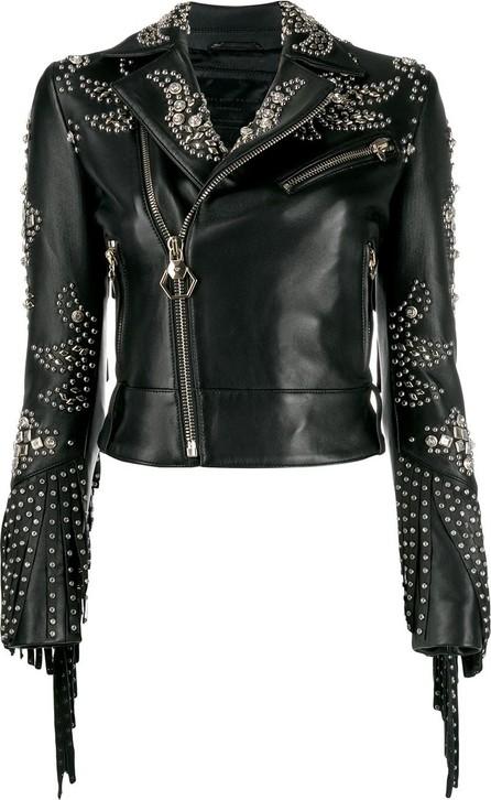 Philipp Plein Cowboy leather jacket