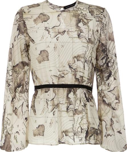 Andrea Marques Maps print blouse