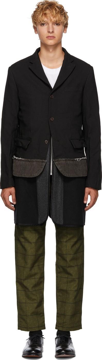 Comme des Garçons Homme Deux Black Deconstructed Blazer