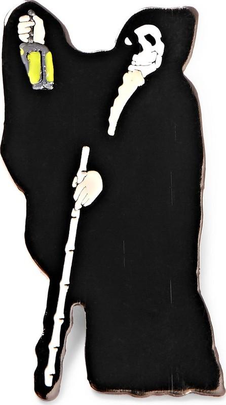 Grim Reaper Enamelled Metal Pin