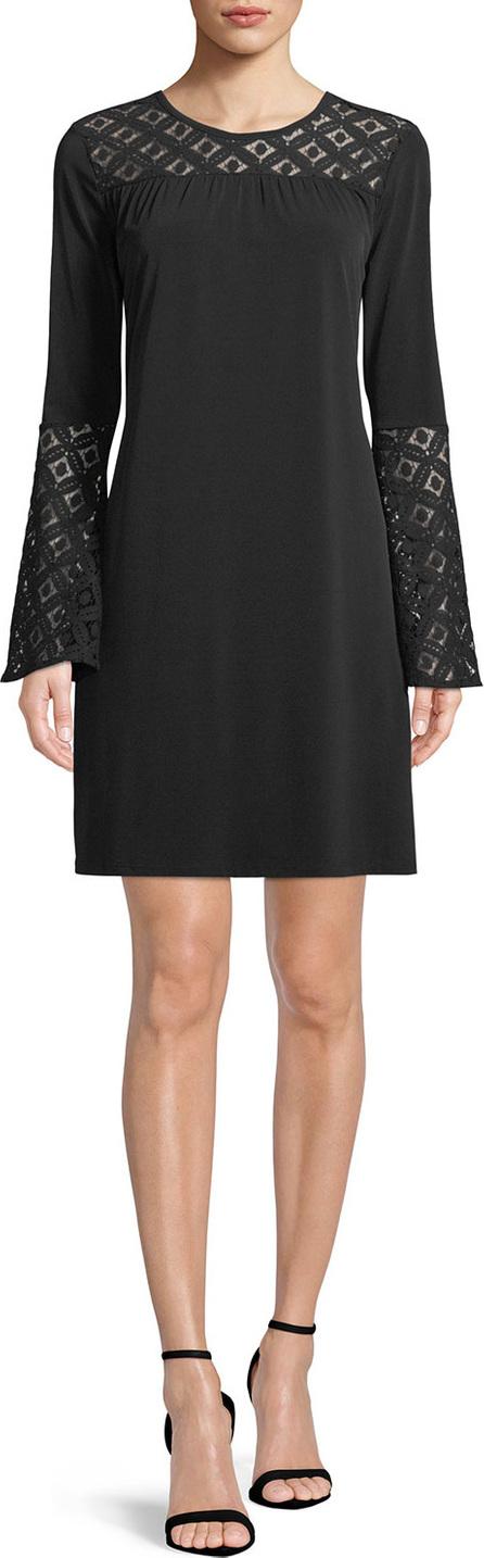 MICHAEL MICHAEL KORS Lace-Inset Bell-Sleeve Dress