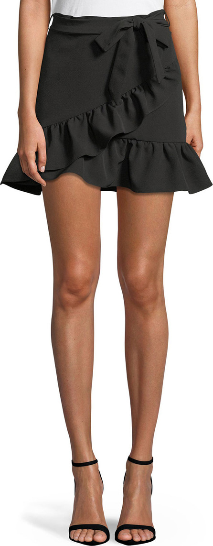 Bardot Frill Wrap-Front Mini Skirt