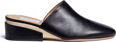 Gabriela Hearst 'Adele' wooden wedge leather mules