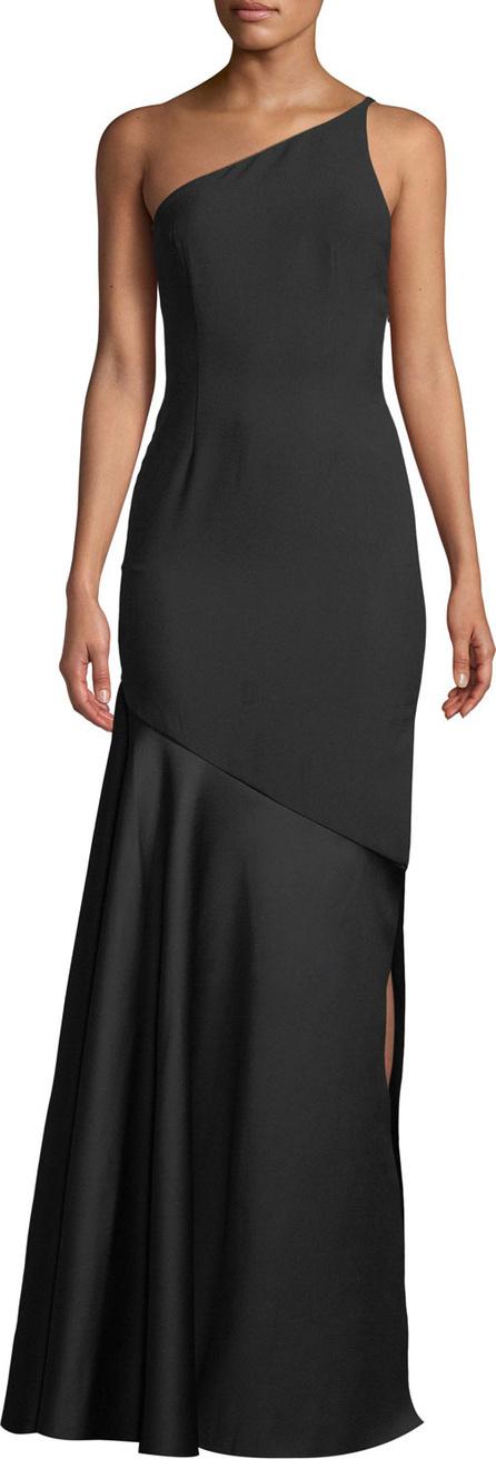 Solace London Violeta One-Shoulder Split Maxi Dress