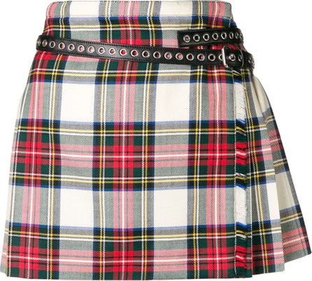 Miu Miu Contrasting pleated mini skirt