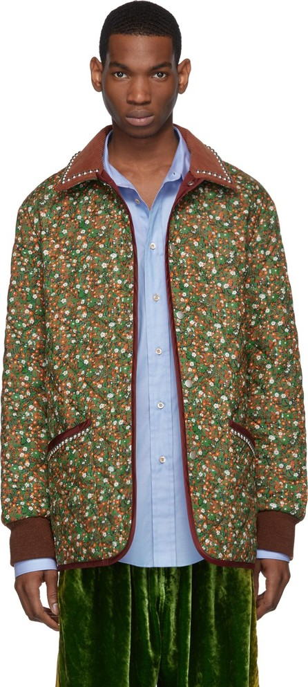 Gucci Green & Orange Flower 'Chateau Marmont' Jacket