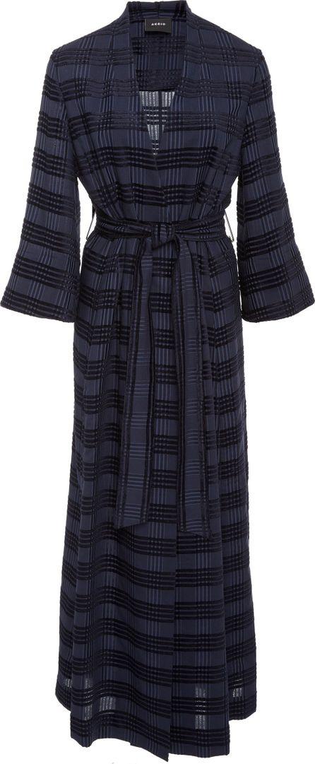Akris Square Jacquard Cardigan Wrap Coat