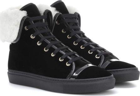 Lanvin Velvet high-top sneakers