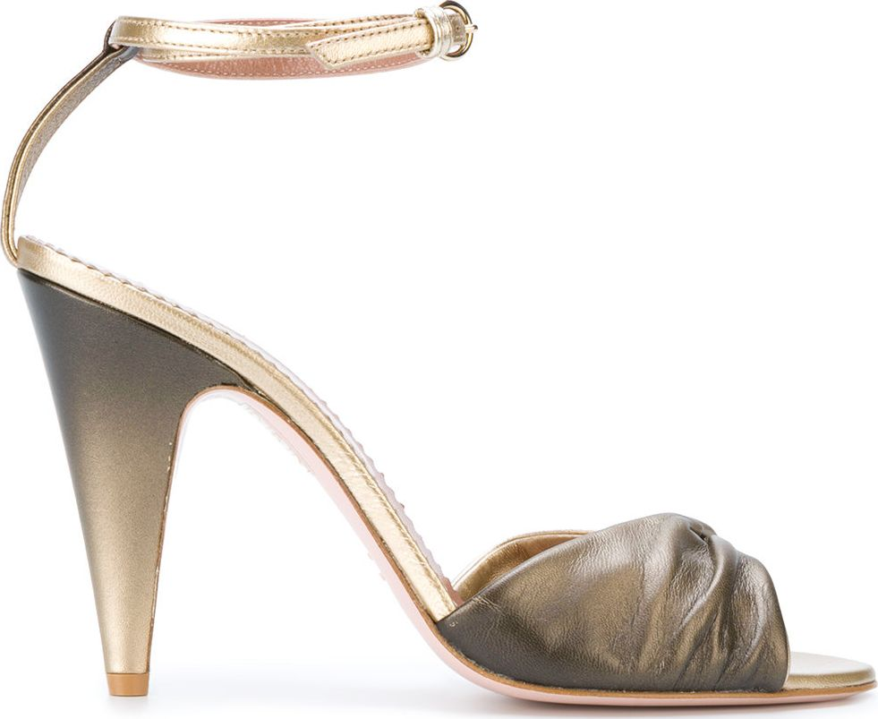 RED Valentino - metallic stiletto sandals