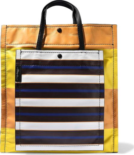 3.1 Phillip Lim Accordion striped leather tote