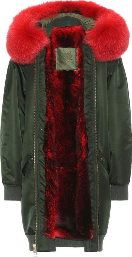Mr&Mrs Italy Long Bomber fur-lined coat