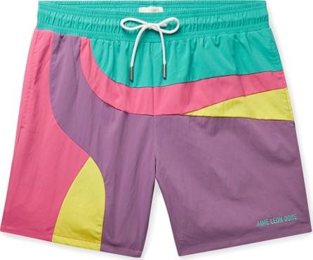 Aimé Leon Dore Logo-Embroidered Colour-Block Swim Shorts